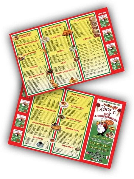 Restaurant Menu Printing